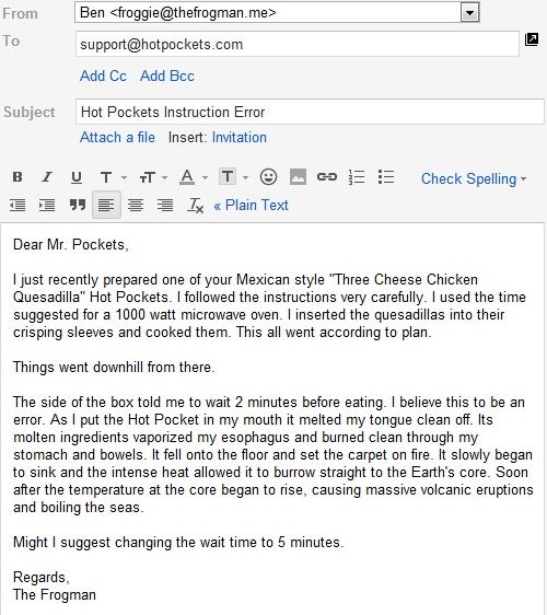 Dear Mr. Pockets...